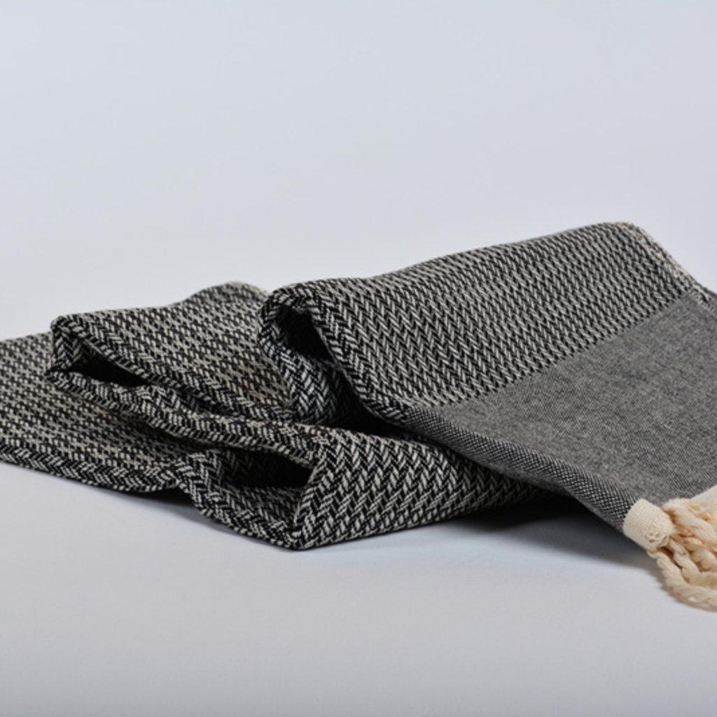 Lantara Tweed Black Hammam Towel