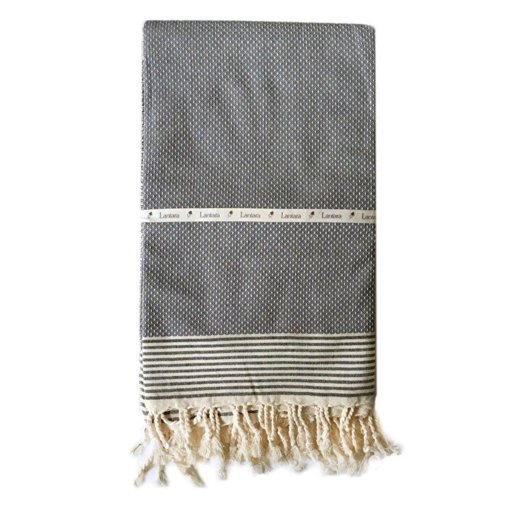 Lantara Bordeye Grey Hammam Towel