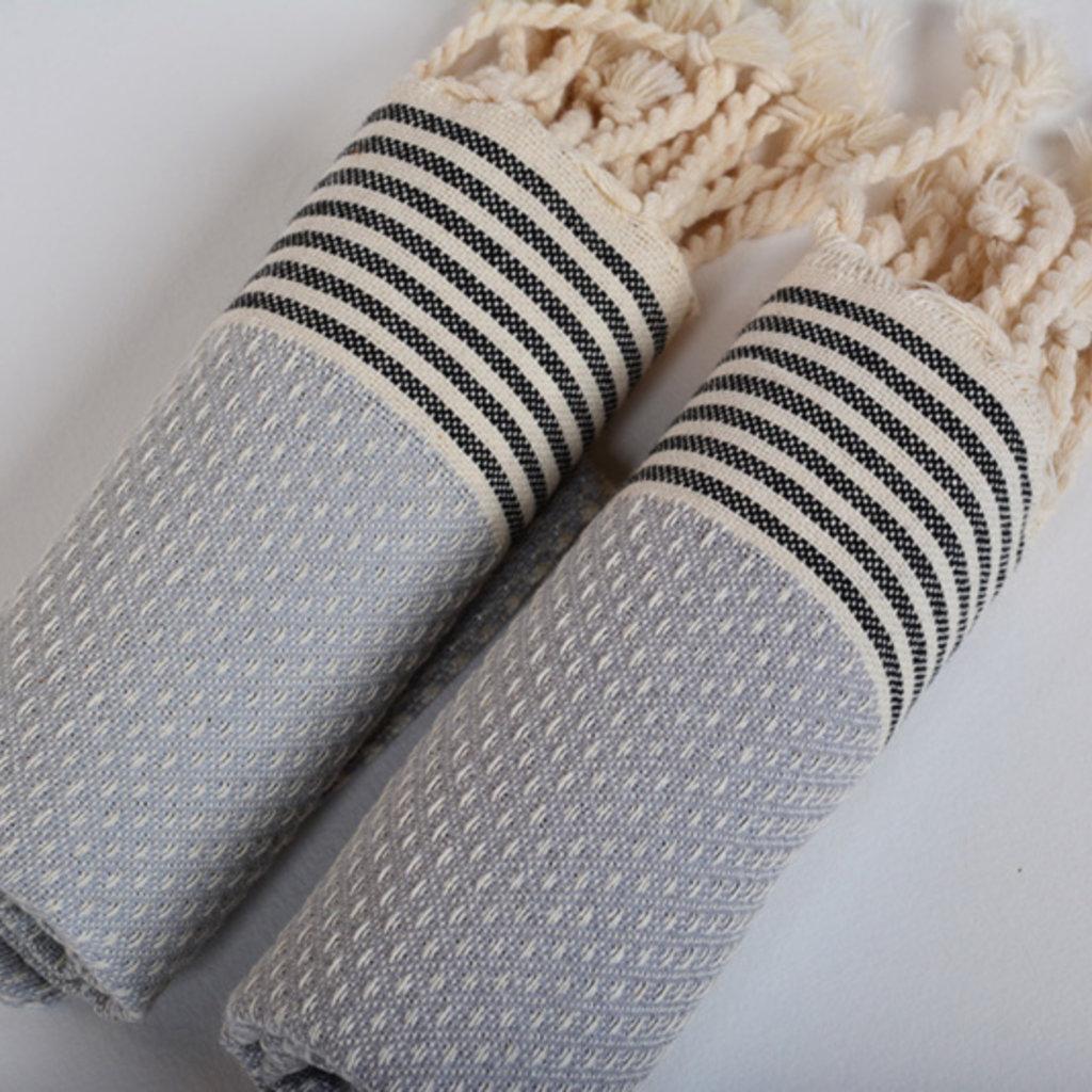 Lantara Birdeye Light Gray Hammam Towel 50 x 80 cm