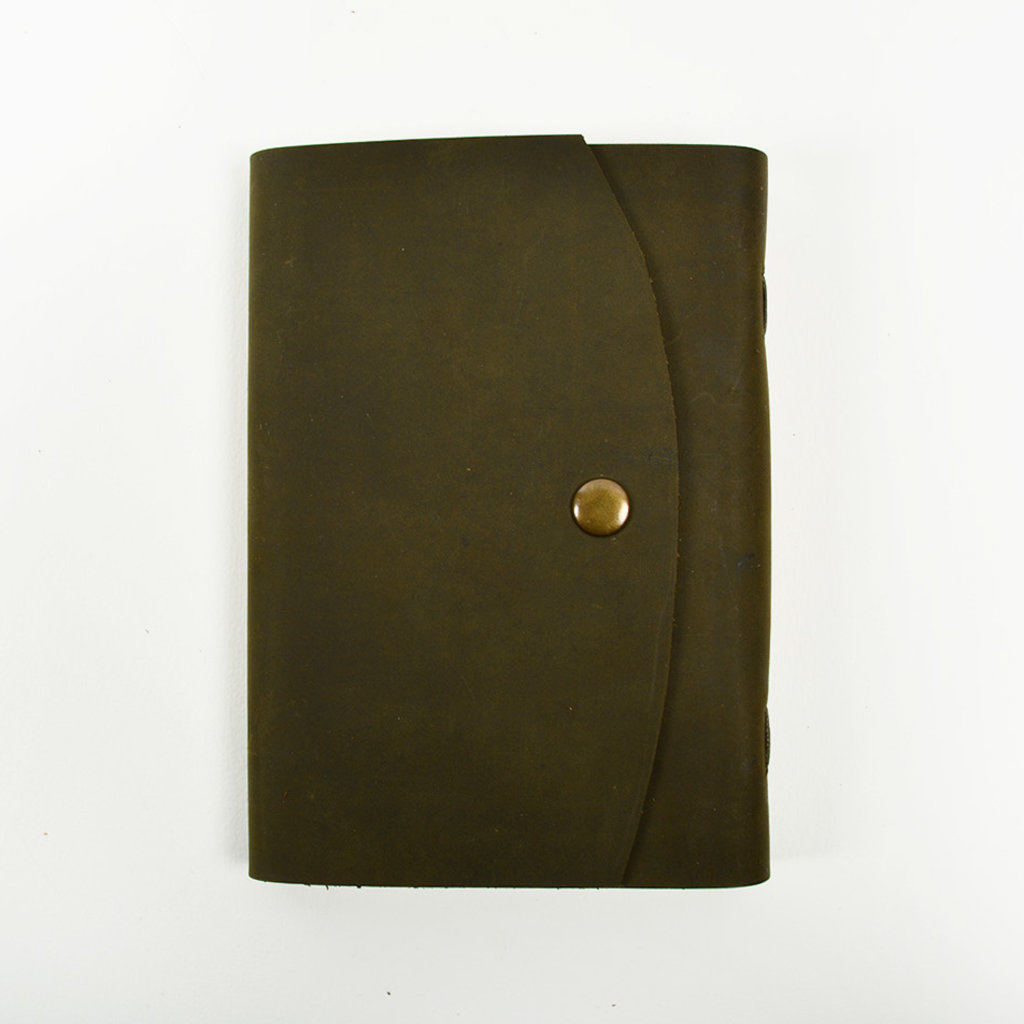 Leather Notebook with Craft Paper