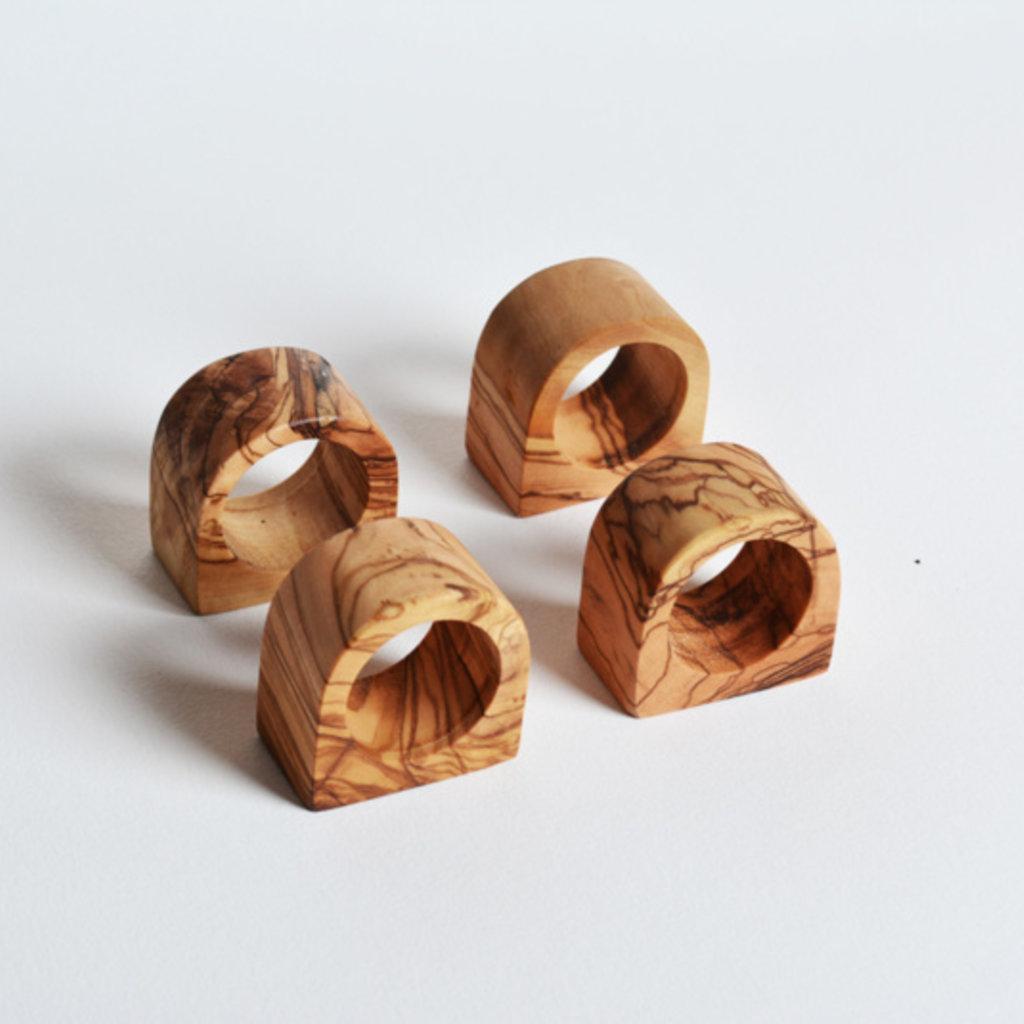 Kiwano Olive wood napkin rings