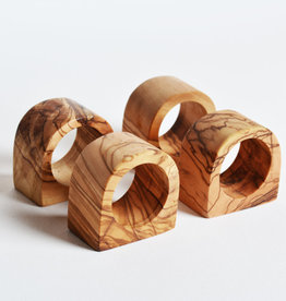 Kiwano Olive wood napkin rings