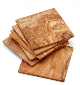 Kiwano Olive wood coasters Square