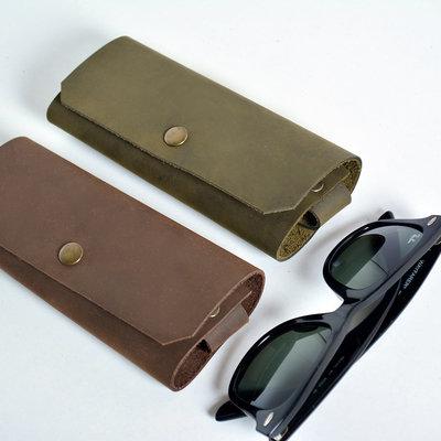 Kiwano Leather Glasses Case