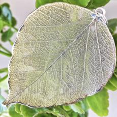 Liff Silver Necklace Bodhi Leaf Azurit
