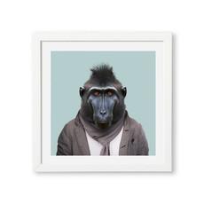 Yago Partal Framed Art Print | Celebes Crested Macaque