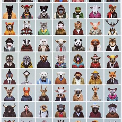 Yago Partal Zooportraits Poster & Wrapping Paper