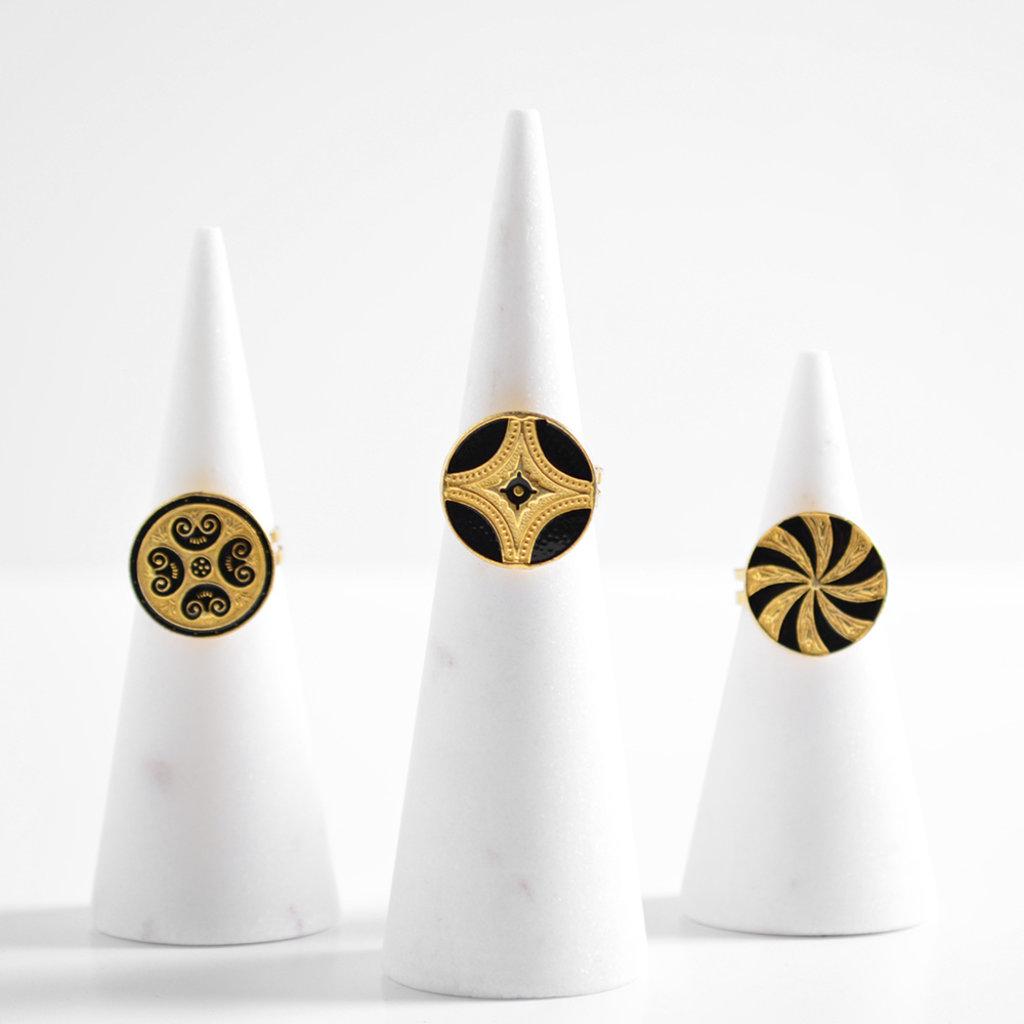 """Kiwano Goldplated Silver Ring """"Silk Road"""""""