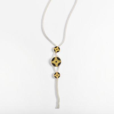 """Kiwano Silver Necklace """"Silk Road"""""""