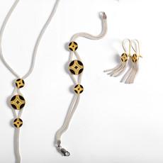 """Kiwano """"Silk Road"""" Silver Gold Bracelet"""