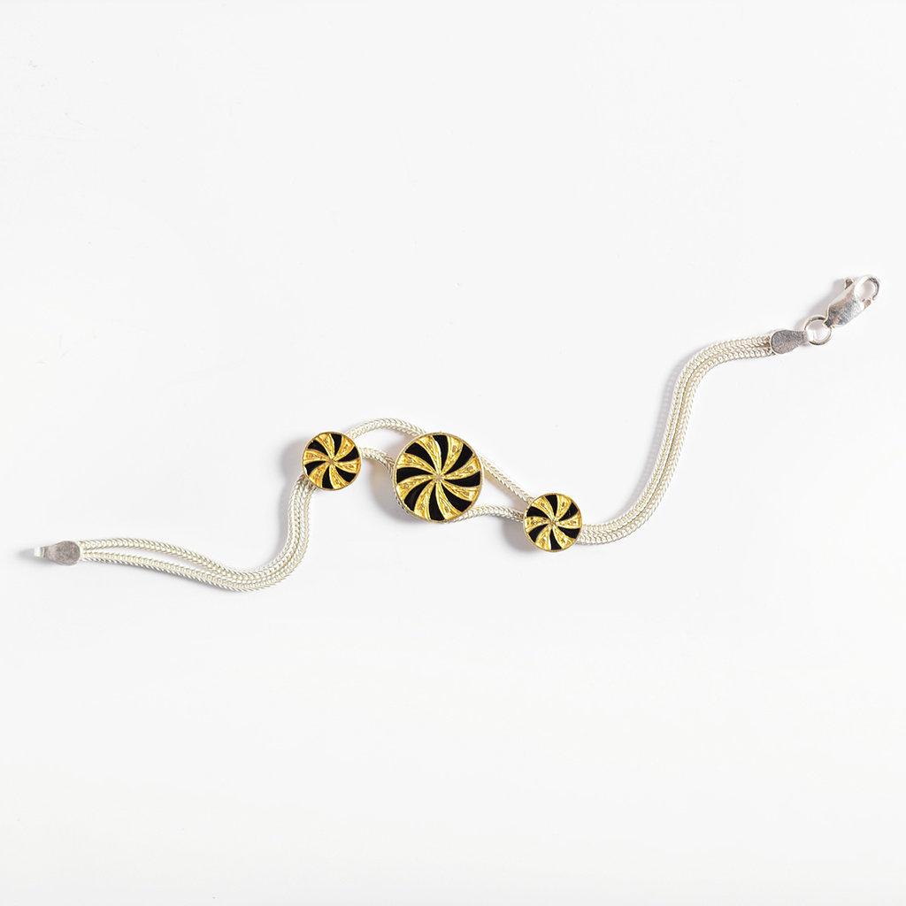 """Kiwano Silver Bracelet """"Twirl"""""""