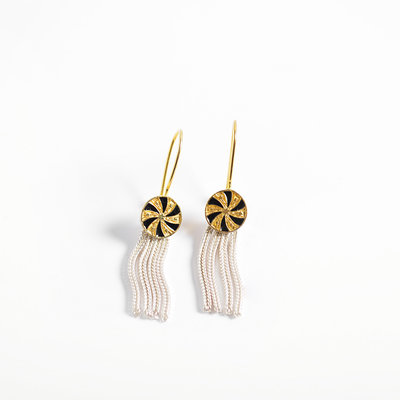 "Kiwano ""Twirl"" Silver Earrings"