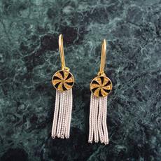 """Kiwano """"Twirl"""" Silver Earrings"""