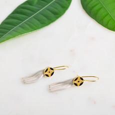"""Kiwano """"Silk Road"""" Silver Gold Earrings"""