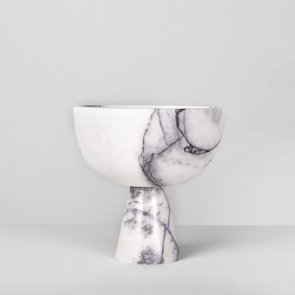Kiwano Lilac White Marble Fruit Bowl