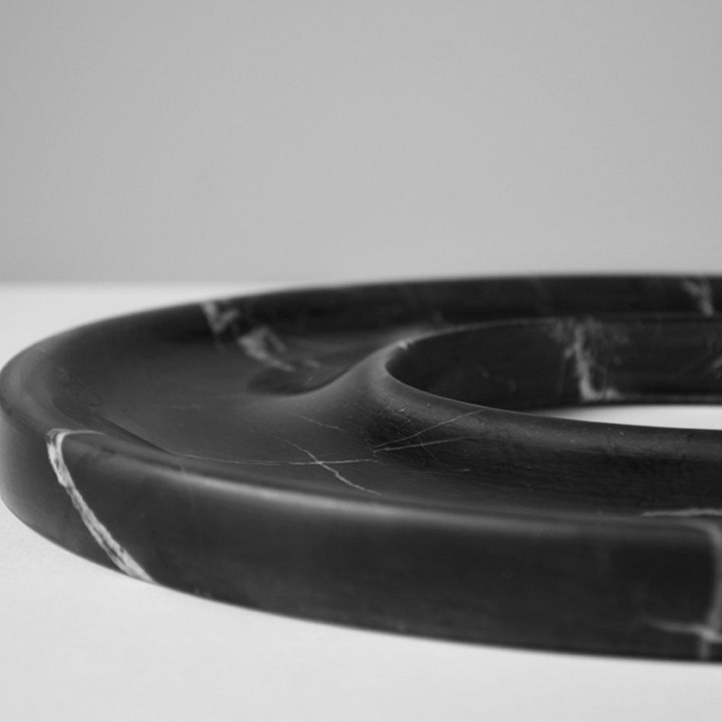 Kiwano Zwart Marmer Ring Schaal