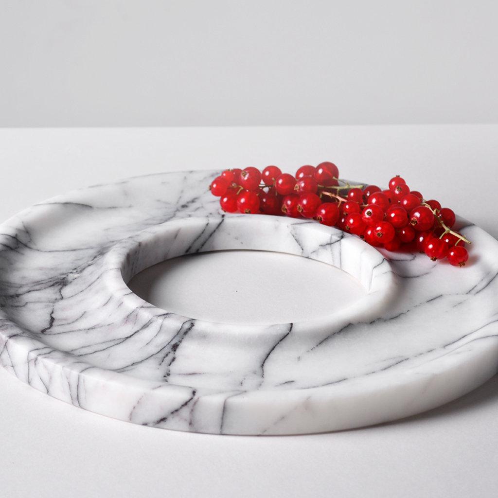 Kiwano Lilac White Marble Ring Dish