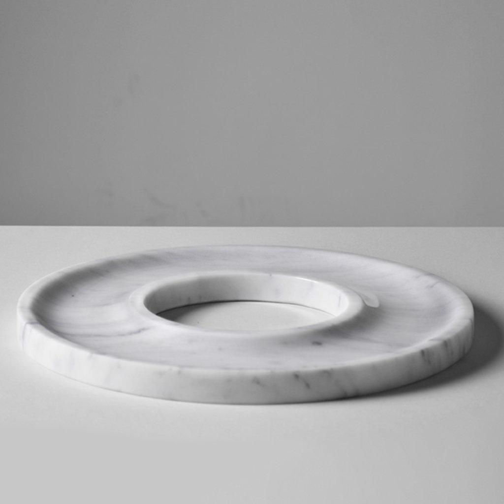 Kiwano Bianco Marble Ring Dish