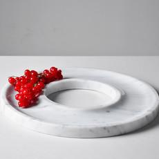 Kiwano Bianco Marmer Ring Schaal