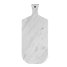 Kiwano Bianco White Marble Serving and Cutting Board