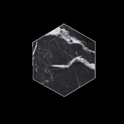 Kiwano Zwart Marmer Hexagonal Onderzetters Set