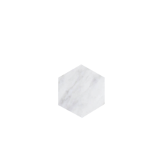 Kiwano Bianco White Hexagon Coasters Set of 4