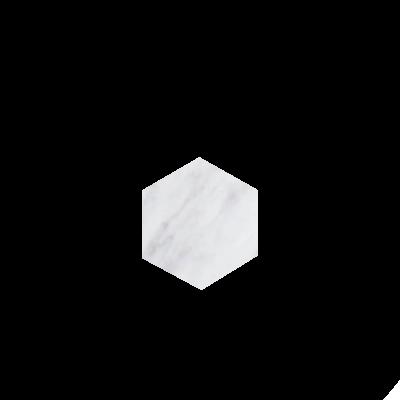 Kiwano Bianco White Hexagon Coasters Set
