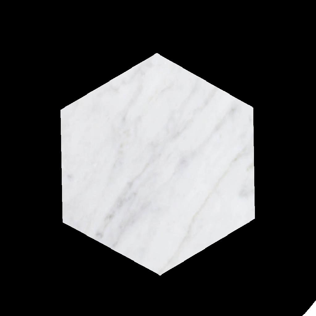 Kiwano Bianco Wit Marmer - Hexagon Plank Small