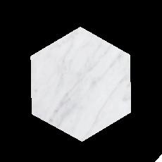 Kiwano Bianco White Marble -Hexagon Platter Small
