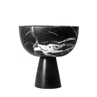 Kiwano Black Marble Bowl