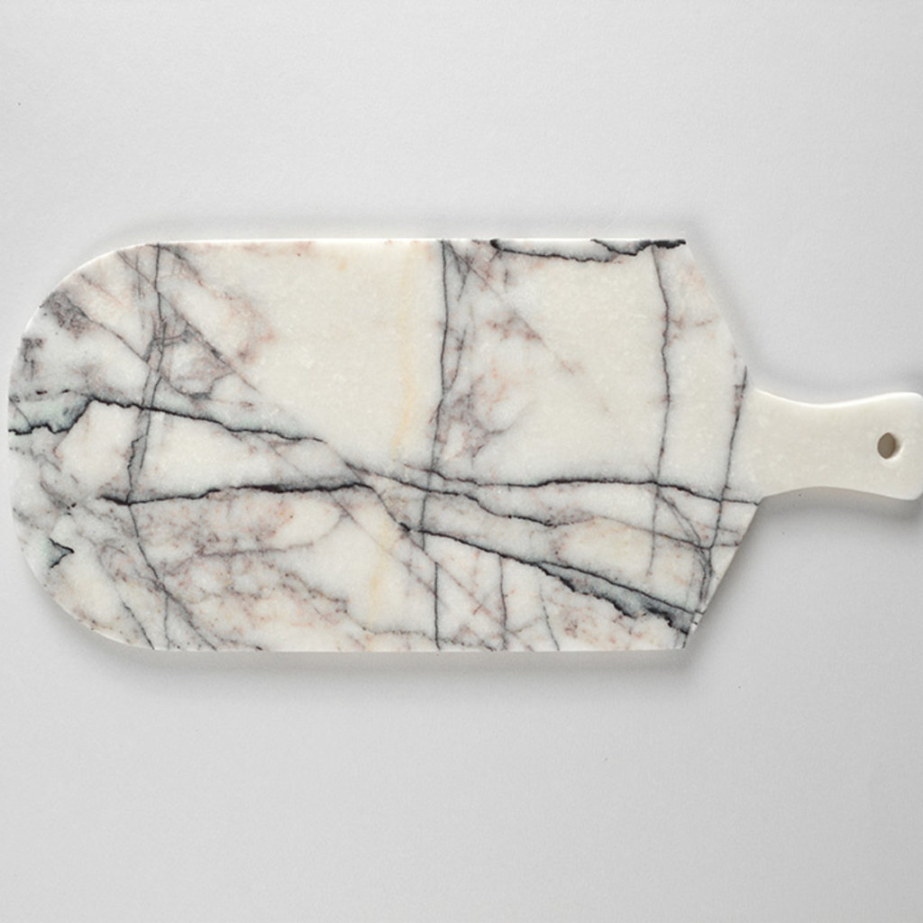 Kiwano Lilac White Marble Cutting and Serving Board