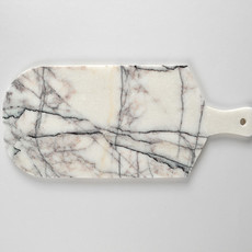 Lilac White Marble Cutting and Serving Board