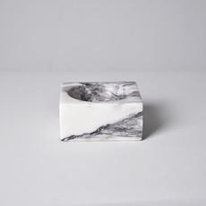 Kiwano Lilac White Marble Square Bowl
