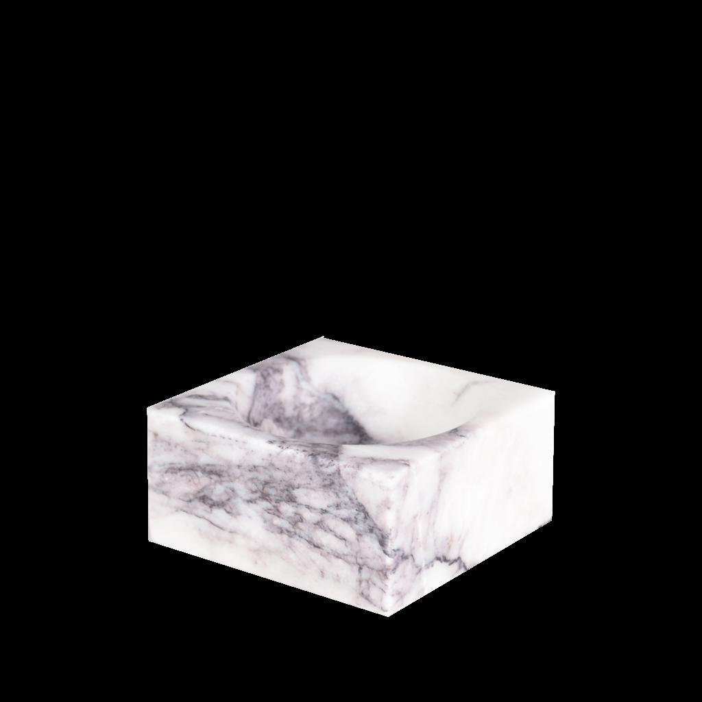 Kiwano Lilac Wit Marmer Vierkant Schaaltje