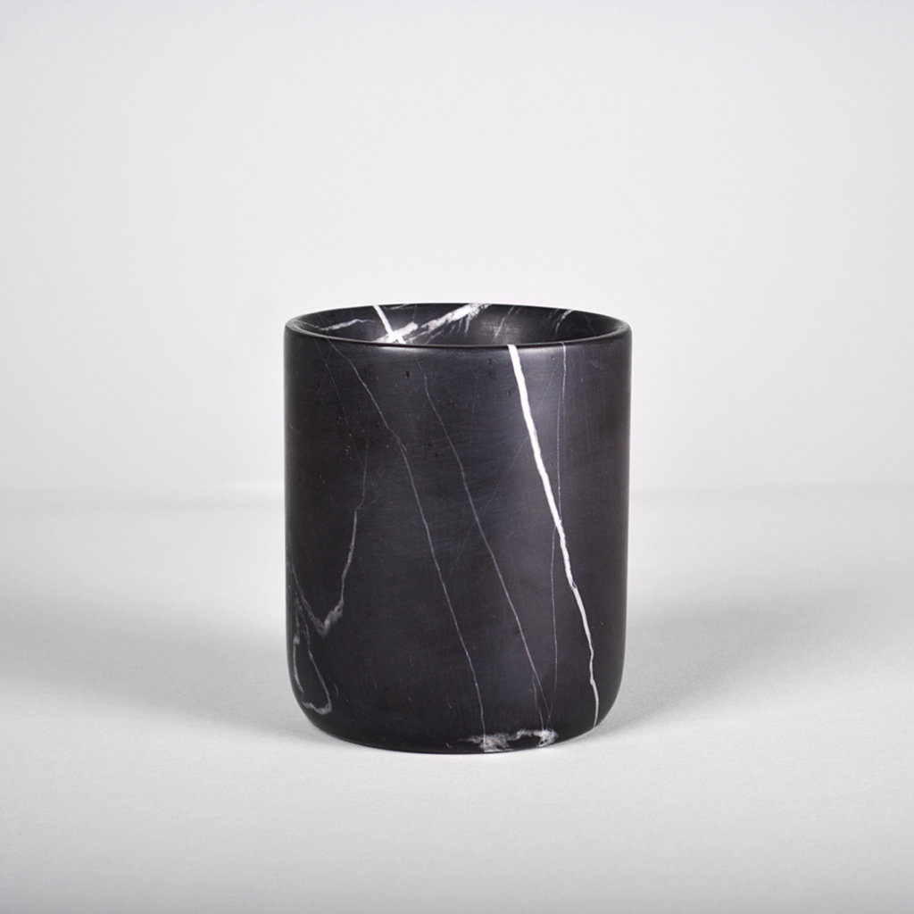 Kiwano Black Marble Pen and Toothbrush Holder