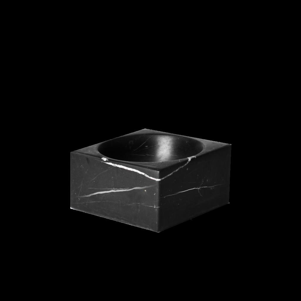 Kiwano Taurus Black Marmer Vierkant Sckaaltje