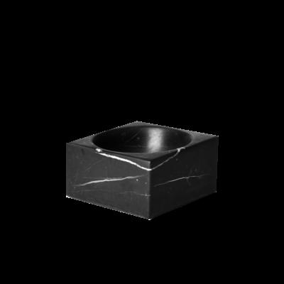 Kiwano Zwart Marmer Vierkant Schaaltje
