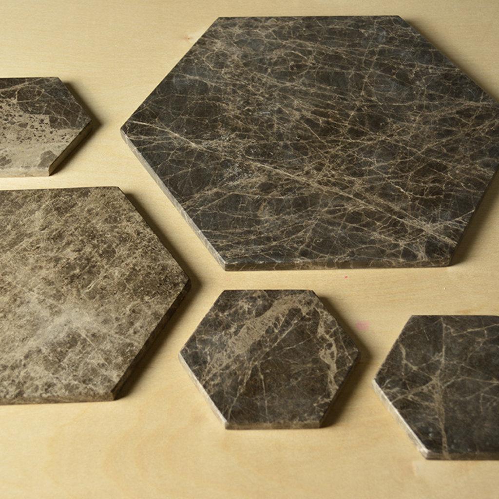Kiwano Emparador Hexagonal Coasters Set of 4
