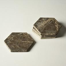 Kiwano Emparador Marble Hexagon Platter Small