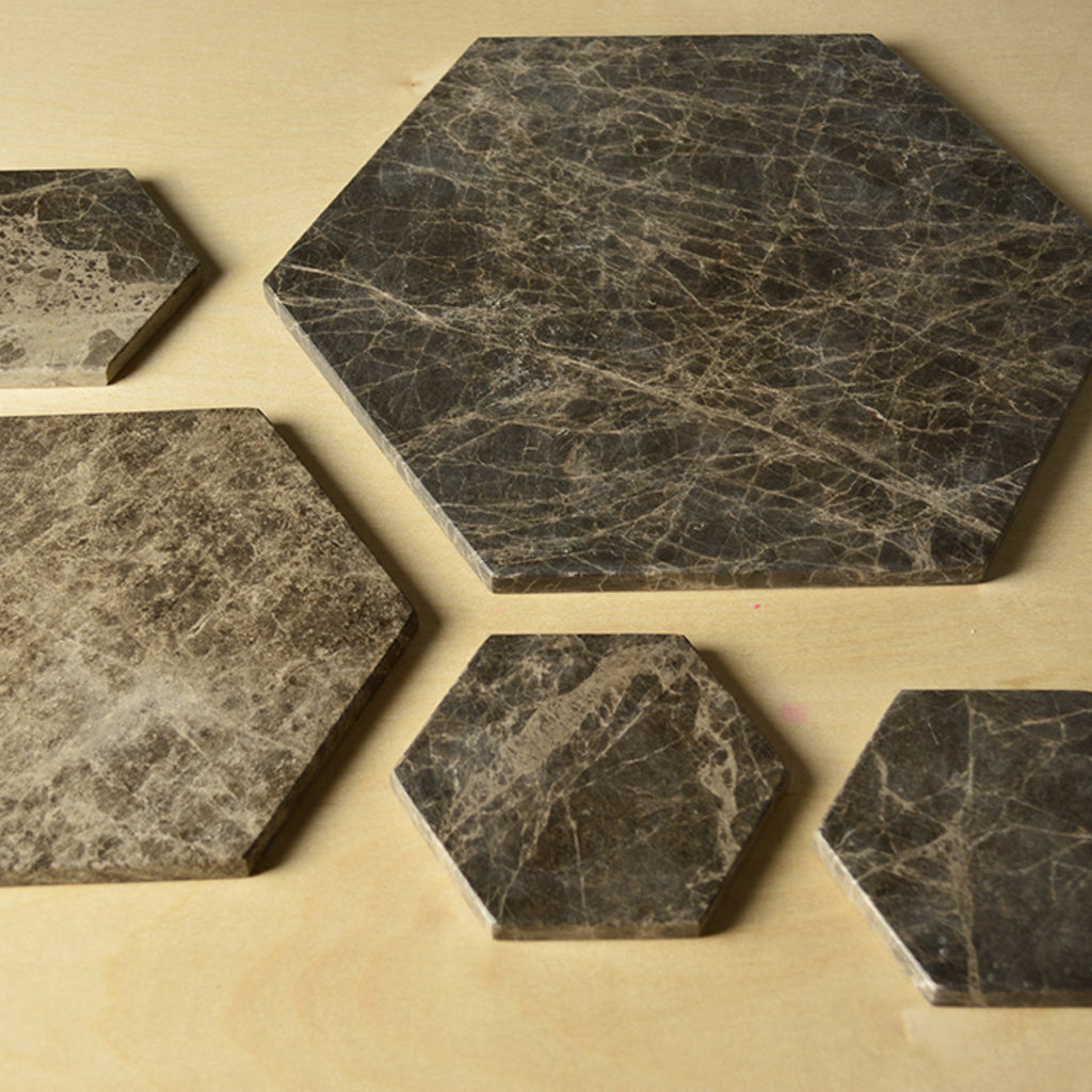Kiwano Emparador Marmer Hexagon Plank Medium
