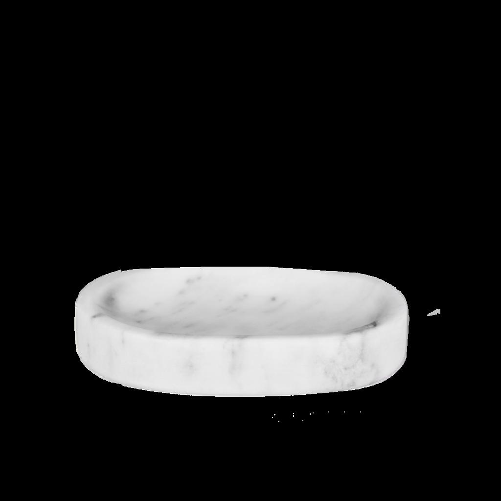 Kiwano Bianco White Marble Soap Dish