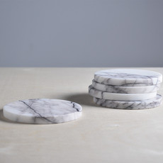 Kiwano Lilac Marble Round Coasters Set of 4