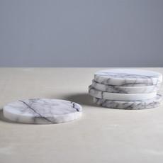 Kiwano Lilac Marmer Ronde Onderzetters Set van 4