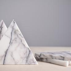 Kiwano Lilac Marmer Driehoek Onderzetters Set van 4