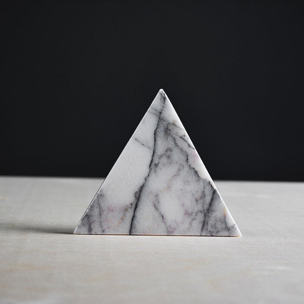 Kiwano Lilac Marble Triangle Coasters Set of 4