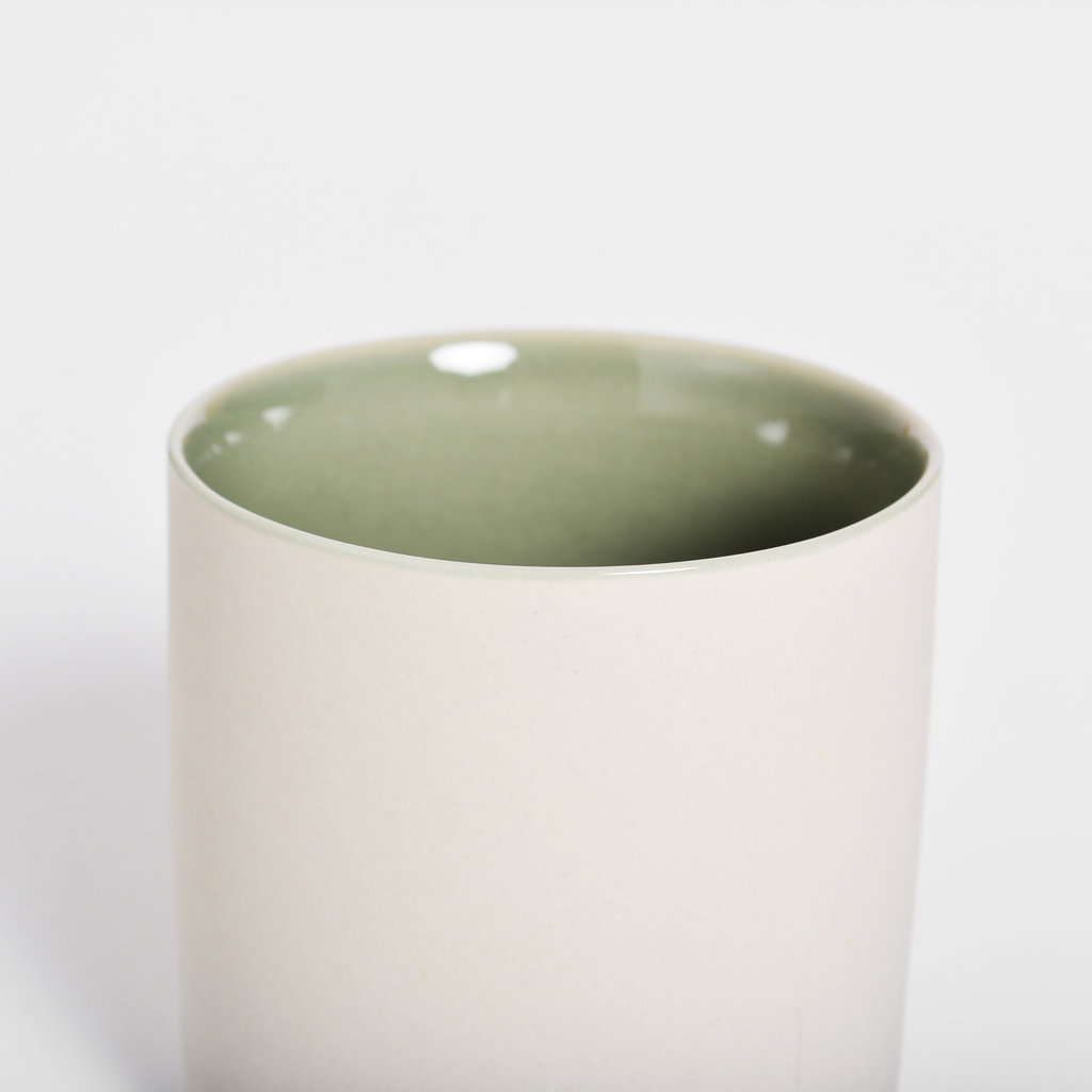 Kinta Cup Without Handle - Light Grey, Olive