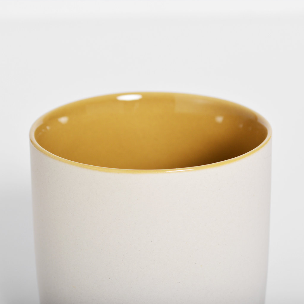 Kinta Cup Without Handle - Light Grey, Olive, Mustard