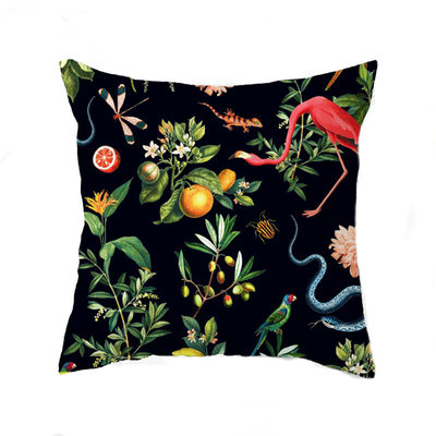 Annet Weelink Cushion - GARDEN OF EDEN night navy