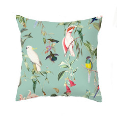 Annet Weelink Cushion - BIRDS OF PARADISE sea mint