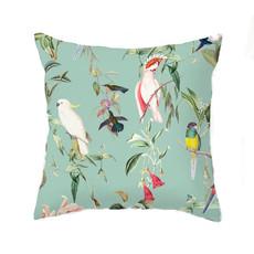 Annet Weelink Kussen - BIRDS OF PARADISE sea mint